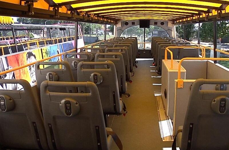 Estrutura de um ônibus turístico em Montevidéu no Uruguai