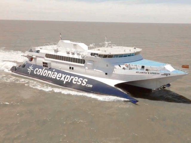Principais trajetos de ferries saindo do Uruguai